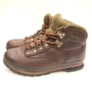 Timberland size 9 mens hiking boots brown